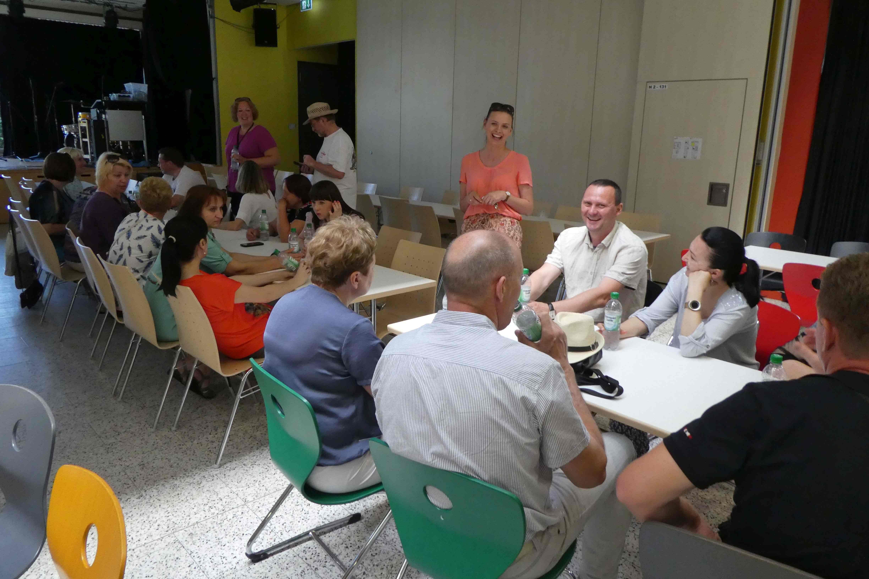 Begrüßung in der Ernst-Reuter-Schule