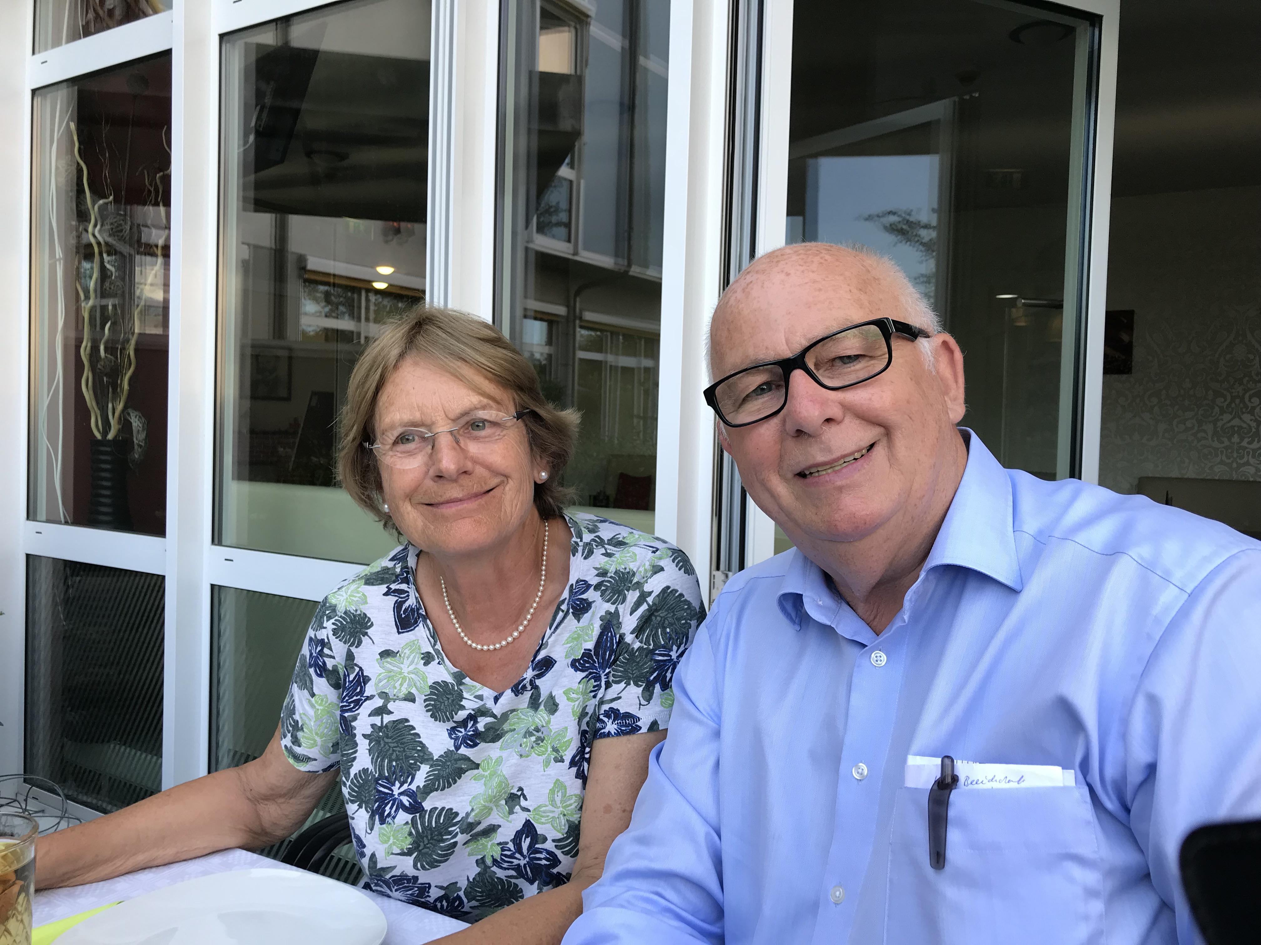 Die ehemalige und der jetzige Vorsitzendes des Vereins Dr. Siedentopf und D. Kolmer